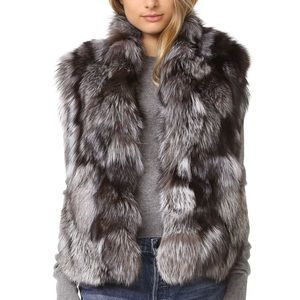 Vince Fox Fur Vest 100% Fox